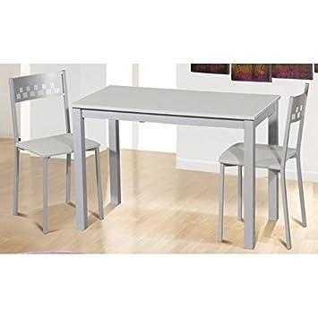 SHIITO Mesa de Cocina 110x55 cm Extensible Apertura Frontal y Tapa ...