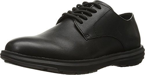 Dr. Scholl's Men's Hiro Work Shoe, Black, 9.5 M (Black Leather Formal Slip)