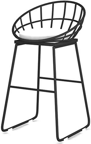 DLC Bar, Cafeteria, Silla de Restaurante, Silla de Recepcion Moderna Iron Art para Oficina, Comedor, Desayuno, Cocina, Taburetes de 45 cm (17.71)  / 65 cm (25.59) / 75 cm (29.52) ,Negro,Los 65Cm