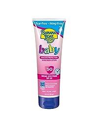 Banana Boat Baby Sunscreen Tear-Free Sting-Free Broad Spectrum Sun Care Sunscreen Lotion - SPF 50, 8 Ounce