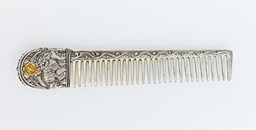 Silver Hair comb with Zodiac Horoscope Astrology Sign ''Aries'' by Sribnyk - Gallery of Silver Art