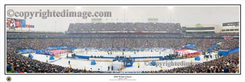 (Everlasting Images NHL 2008 Winter Classic Framed Panoramic Photo)