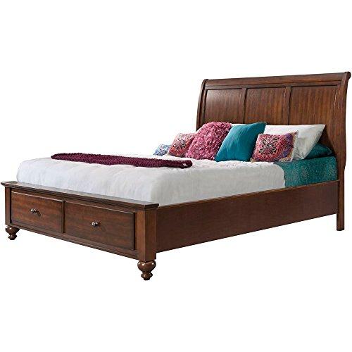 Cambridge 98110BKG-CH Newport Storage Platform Bed, King Bedroom Furniture, Cherry