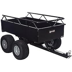 Agri-Fab 1000-Pound Heavy Duty Steel ATV Tow Tandem Axle Cart 45-0350