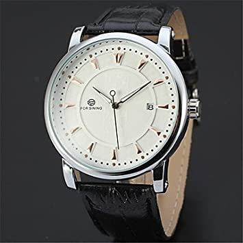 Fashion Watches Relojes Hermosos, FORSINING Hombre Reloj de Pulsera Reloj de Moda Reloj Casual Cuerda