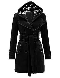 Noroze Womens Check Hood Coat