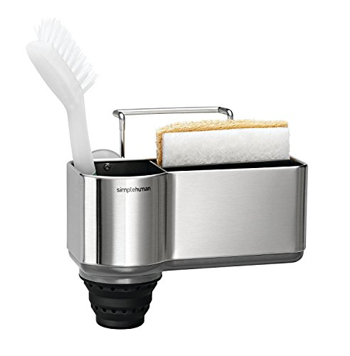 Kitchen Sponge Holder (simplehuman Sink Caddy, Brushed Stainless Steel)