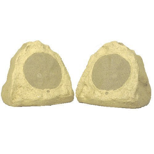 Theater Solutions 2R6S Outdoor Rock Speakers (Sandstone) by Theater Solutions