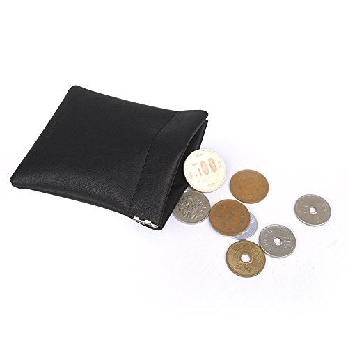 UIYI Classic Leather Squeeze Coin Purse Cash Holder Coin Pouch (170196) - Leather Squeeze Coin Purse