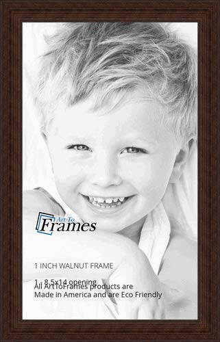 ArtToFrames 8.5x14 inch Walnut Stain on Hard Maple Wood Picture Frame, WOM0066-60823-YWAL-8.5x14 by ArtToFrames