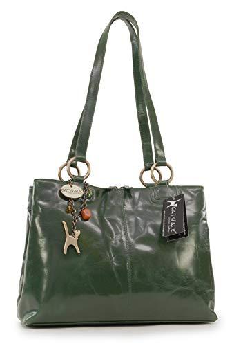 Tote Bellstone Green Leather Big Bag Vintage Catwalk Collection Shoulder ExqwPEFC