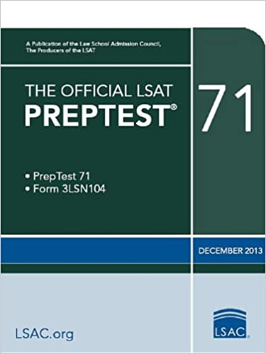 The Official Lsat Preptest 71 Law School Admission Council 9780986045509 Amazon Com Books
