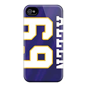 Shock Absorbent Hard Cell-phone Case For Iphone 4/4s (RUc14696zuMo) Provide Private Custom Attractive Minnesota Vikings Image