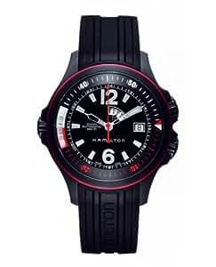 Hamilton H77585335 - Reloj analógico de caballero automático con correa de goma negra - sumergible a 200 metros