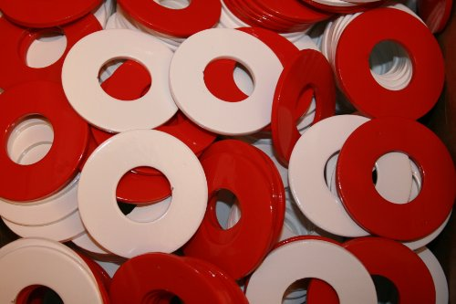 RiverCity Pitching Washers: (4) Red + (4) White with (1) Tin