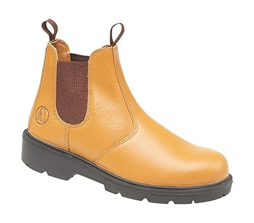 Tan 5 Boot Pull On Steel Dealer in FS115 Unisex n8w0P1qxUq