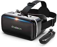 【令和進化型VRゴーグル】 VRヘッドセット VRヘッドマウントディスプレイ 超広角120° Bluetoothリモコン付 焦点距離&瞳孔間距離調整可 4.7-6.5インチスマホ対応 遠視/近視適用 3Dグラス 非球面光学レンズ...
