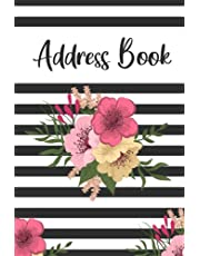 Address Book: Small Address Log Book with Alphabetical Tabs to Record Addresses, Phone Numbers, Emails, Birthdays and Notes Flowers
