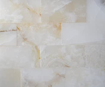 3x6 Pearl White Onyx Subway Brick Polished Tiles for Backsplash