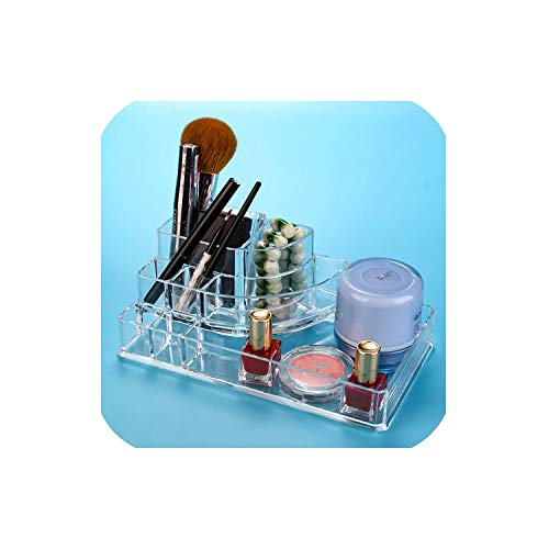 - 1Pcs Fashion 360 Degrees Rotating Makeup Organizer Display Holder Adjustable Makeup Brushes Lipsticks Cosmetic Storage Box,17X9.2X6.6Cm