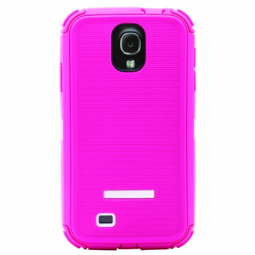 Body Glove 9346502 ToughSuit Case for Samsung Galaxy S4 - Raspberry/White
