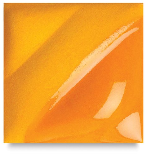 AMACO Velvet Lead-Free Non-Toxic Semi-Translucent Underglaze, 1 pt Jar, Bright Orange V-390