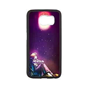 Generic for Samsung Galaxy S6 Cell Phone Case Black Rapunzel Custom HHGKAOJFD2113