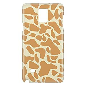 Loud Universe Samsung Galaxy Note 4 3D Wrap Around Giraffe Print Cover - Beige/Brown
