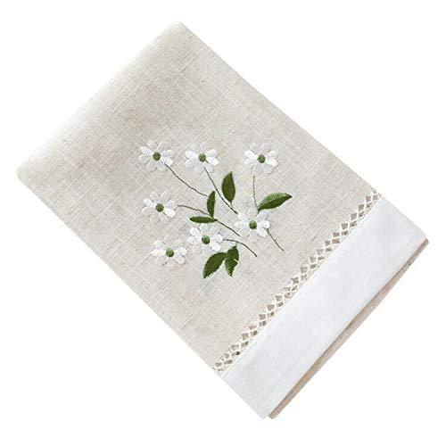 - Modern Table Runner Embroidered Pastoral Table Runner for Wedding Party Home Hotel Table Decoration Europe Style Home Textile,Pastoral,45x180cm,Natural Color