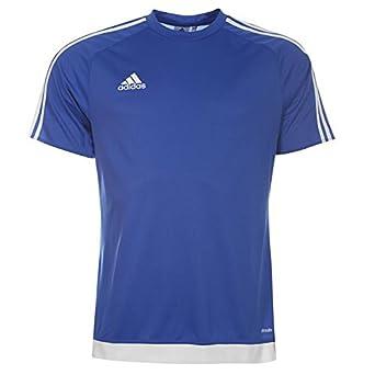 Adidas para hombre 3 diseño de rayas Estro T Shirt Camiseta de manga corta parte superior Climalite: Amazon.es: Deportes y aire libre