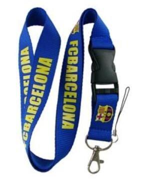 Barcelona Lanyard Keychain Holder Blue with Buckle -
