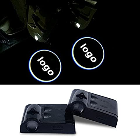 2PCS Wireless Car Projection Light LED Door Welcome Ghost Shadow Light Logo for Hyundai Ford Mustang CHEVROLET Buick JAGUAR Mitsubishi PEUGEOT Renault - No Drilling Required (Ford (Mustang Door Projector Lights)