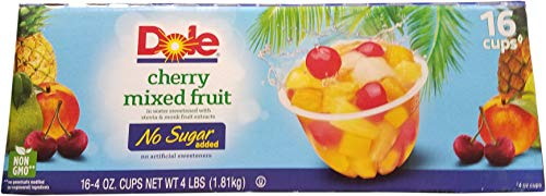 Dole No Sugar Added Cherry Mixed Fruit, 64 Ounce