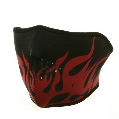 Neoprene Half Face Mask - Red Flame W11S25D