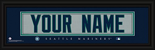 (Seattle Mariners Personalized Nameplate MLB framed and customized 24