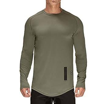 Amazon.com: ICE Crema Hombres Gimnasio Deporte Camiseta ...