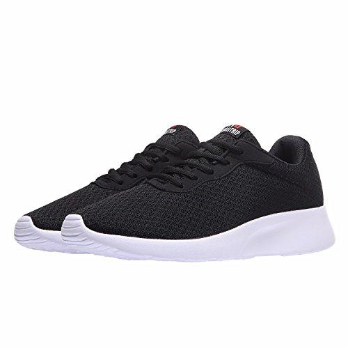 Laufschuhe Herren Gym Sport Sneakers Leichte Schwarz Fitness Casual Mesh Turnschuhe Schuhe Weiß Sportschuhe xBdrxw