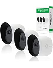 Skins for Arlo Pro,LANMU Silicone Cases Compatible with Arlo Pro & Arlo Pro 2 Security Camera,Weatherproof Cover with Dual Layer Sunshade Design (White,3 Pack)
