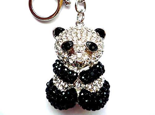 Amazon.com: Lilly Rocket oso panda llavero con cristales de ...