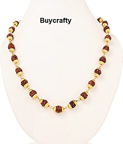 Amazon Com Buycrafty Gold Plated Rudraksh Mala Pooja Mala Feng