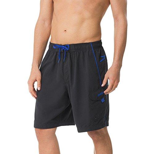 Speedo Mens Marina Ii Volley 20 Bottom, Black/Atlantic Blue, X-Large