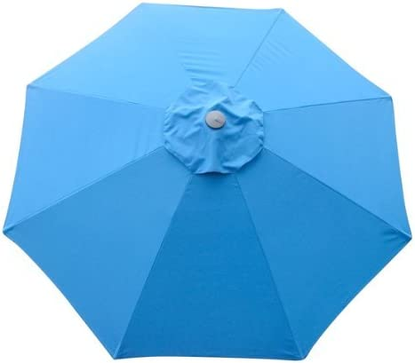 legendary-Yes 9 Feet Blue 8 Rib Patio Umbrella Replacement Canopy Canvas Cover 9' Blue