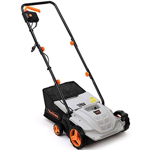 VonHaus 2 in 1 Lawn Scarifier and Aerator – 1500W Electric Garden Rake...