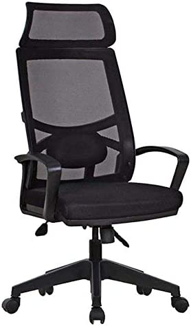 TXCY Chaise De Bureau Chaise De Bureau Space Office Support Manager Chair Plastic Foot-Black