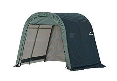 ShelterLogic Round Style Shed/Storage Shelter - Green, 8ft.L x 8ft.W x 8ft.H, Model# 76804