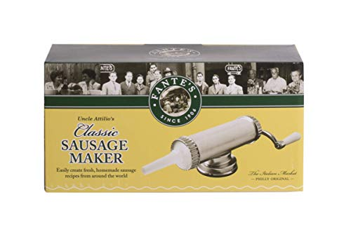 Fantes Sausage Maker with Suction Base and 3 Nozzles, 2.2-Pound Capacity, The Italian Market Original since 1906