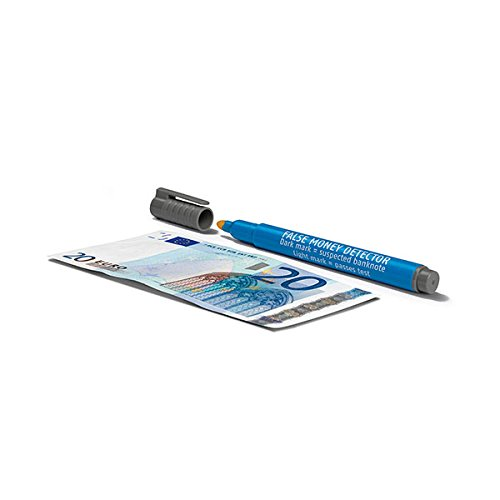 Safescan 111-0378 Falschgeld Stift Blisterpack 1 Prüfstift mit Display Box, blau/grau