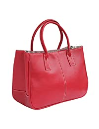 Fashion Story Women Handbag Ladies Hobo Shoulder Bag Large Compartment (Red)