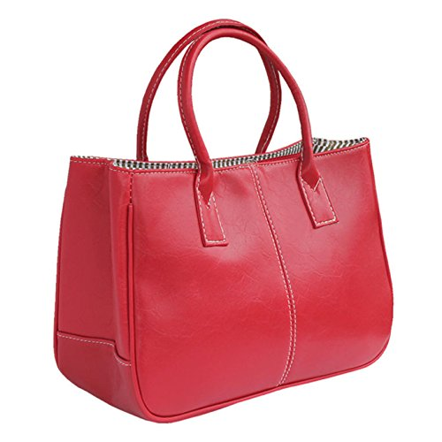 Fashion Story Women Handbag Ladies Hobo Shoulder Bag Large Compartment (Red) by Fashion Story (Image #1)