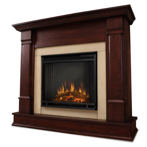 Solid Mahogany Fireplace Mantel (Real Flame Silverton G8600-X-DM Electric Fireplace in Dark Mahogany - MANTEL ONLY)